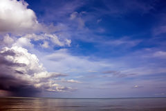 Storm is coming to the sea Royalty Free Stock Images
