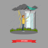 Storm concept vector illustration in flat style Stock Photography