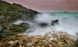 Storm at cot valley West Cornwall Stock Photo