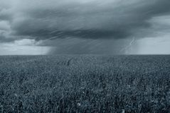 Storm in countryside Royalty Free Stock Photos