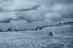 Storm in countryside Stock Image