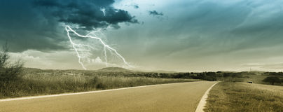 Storm in countryside Royalty Free Stock Photography