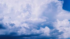 Storm Cumulus clouds in the sky timelapse, storm approaching stock photo