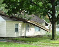 Storm damage. In the midwest Royalty Free Stock Image