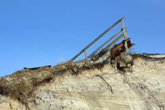 Storm damage at a dune on the Island of Sylt Stock Images
