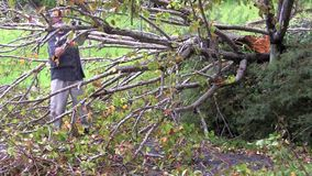 Storm damage stock footage