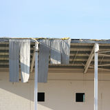 Storm damaged building Royalty Free Stock Images