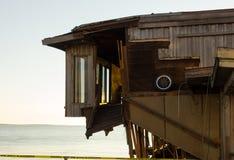 A storm-damaged building at cedar key, florida Stock Image