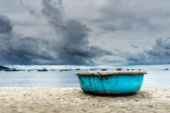 Before the storm. Danang beach in vietnam before the storm Stock Photography