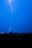Storm on a dark blue sky Royalty Free Stock Photo