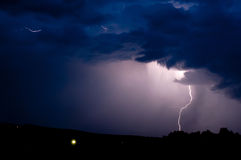 Storm on a dark blue sky Royalty Free Stock Photography