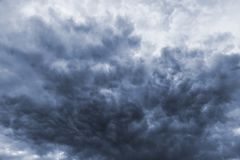 Storm dark ominous clouds Stock Photo