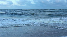 Storm dark wave on the Beach stock video footage