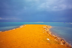Storm on the Dead Sea. Royalty Free Stock Image