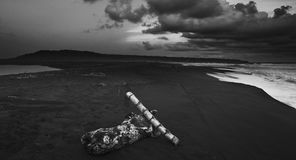 Storm in Depok Beach Royalty Free Stock Photos