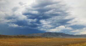 The Storm in desert Royalty Free Stock Photos