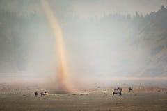 Storm desert Stock Photo