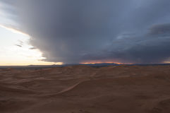 Storm in the desert Royalty Free Stock Images