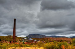 Storm at a deserted Mine Stock Photography