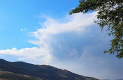 Storm developing over a mountain. Range in the western United States Stock Photo
