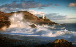 Storm Doris hits Bracelet Bay Royalty Free Stock Photography