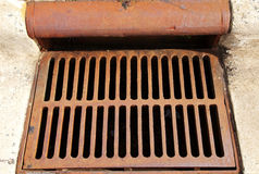 Storm Drain 02. A storm drain in the streets royalty free stock photos