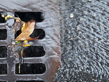 Storm drain. On the streets of New York City Stock Photo