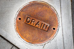 Storm drain cover Stock Photos