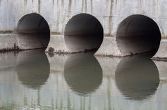 Storm drain outfalls Stock Images