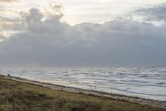 Storm dutch coast. Storm approching Dutch coast / beach Stock Photo