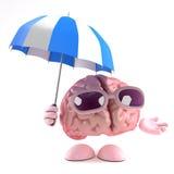storm för hjärna 3d vektor illustrationer