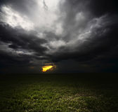 Storm in field Stock Images