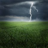 Storm on the field II Royalty Free Stock Images