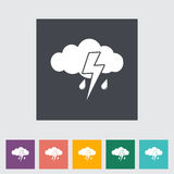 Storm flat icon. Stock Photos