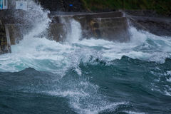 Storm flood in Gardenstown Stock Photography