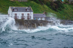 Storm flood in Gardenstown Royalty Free Stock Image