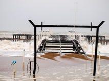 Storm flood Stock Image