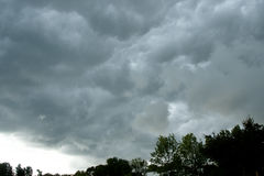 Storm Formation - Canada. Storm Cloud Formation in Canada Royalty Free Stock Photography