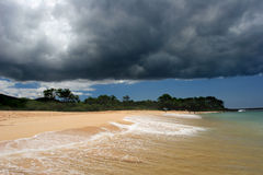 Storm forming above tropical b Stock Image