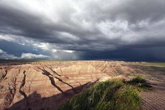 Storm Front in the Badlands stock photos