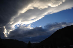 Storm front. Cold front moving over Westland, South Island, New Zealand Royalty Free Stock Photos
