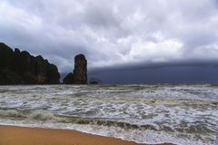 Storm Front in Krabi Coast. Royalty Free Stock Photo