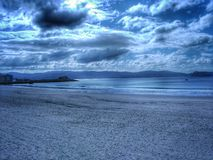 Storm. Galicia covered by clouds royalty free stock photo