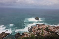 Storm in Garachico royalty free stock photography