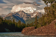 A storm gathers over the mountains,Banff - Canada. Stock Image
