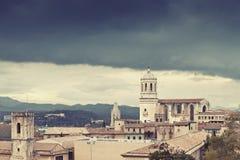 Storm in Girona Stock Photo
