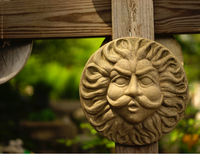 Storm god yard medallion Stock Photos