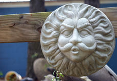 Storm god yard sculpture Royalty Free Stock Photo