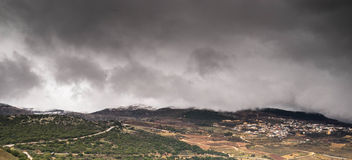 Storm on golan Royalty Free Stock Image