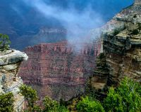 Storm in the Grand Canyon royalty free stock image